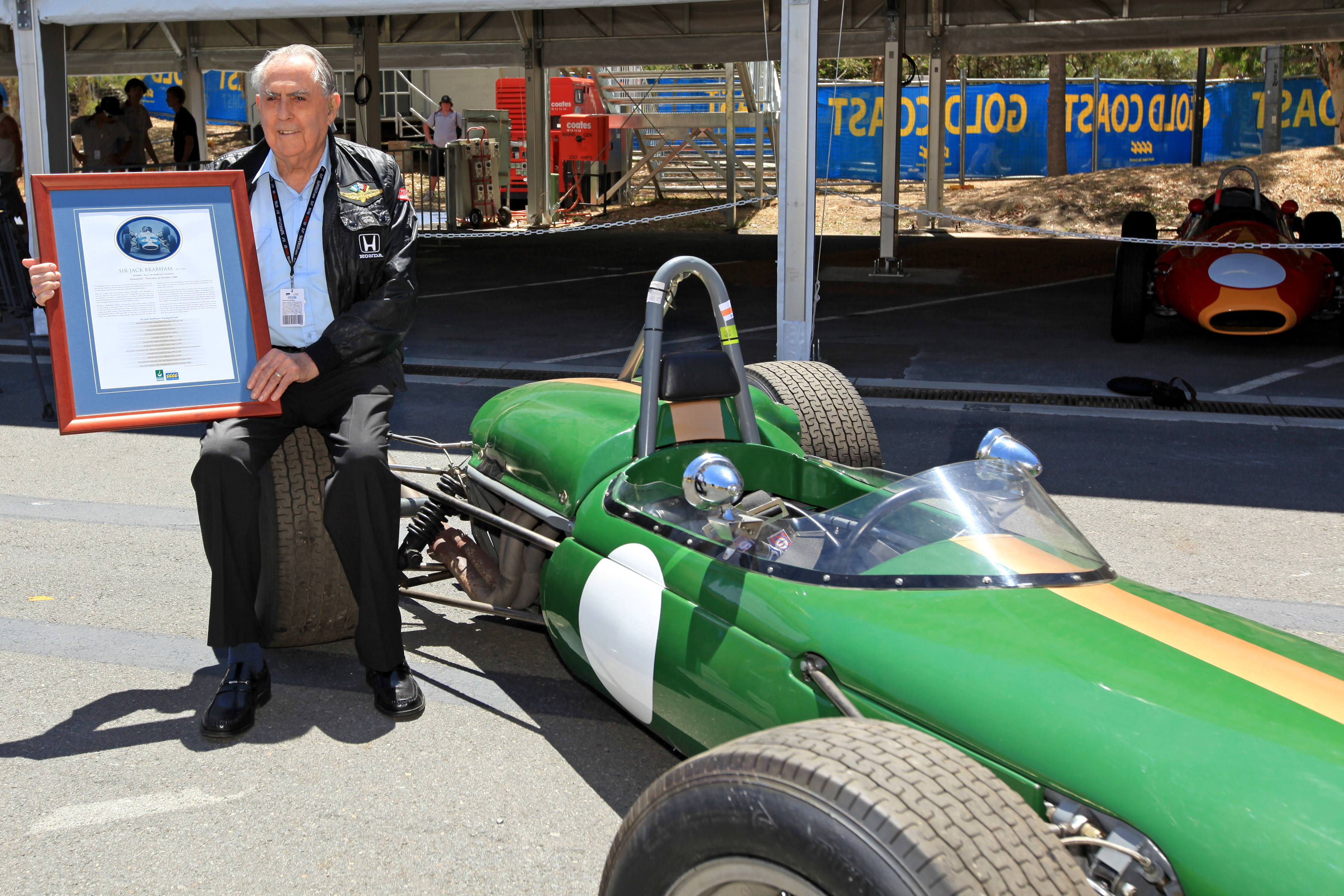 Sir Jack honoured at Day 1 of SuperGP