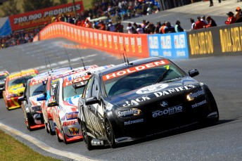 The #7 Jack Daniel's Racing Holden Commodore of Todd and Rick Kelly at Bathurst
