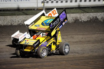 Ryan Farrell behind the whee of the Monte Motorsport entry at the Perth Motorplex.