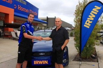 IRWIN Racing's Alex Davison congratulates Francis Terol on winning the Need for Speed