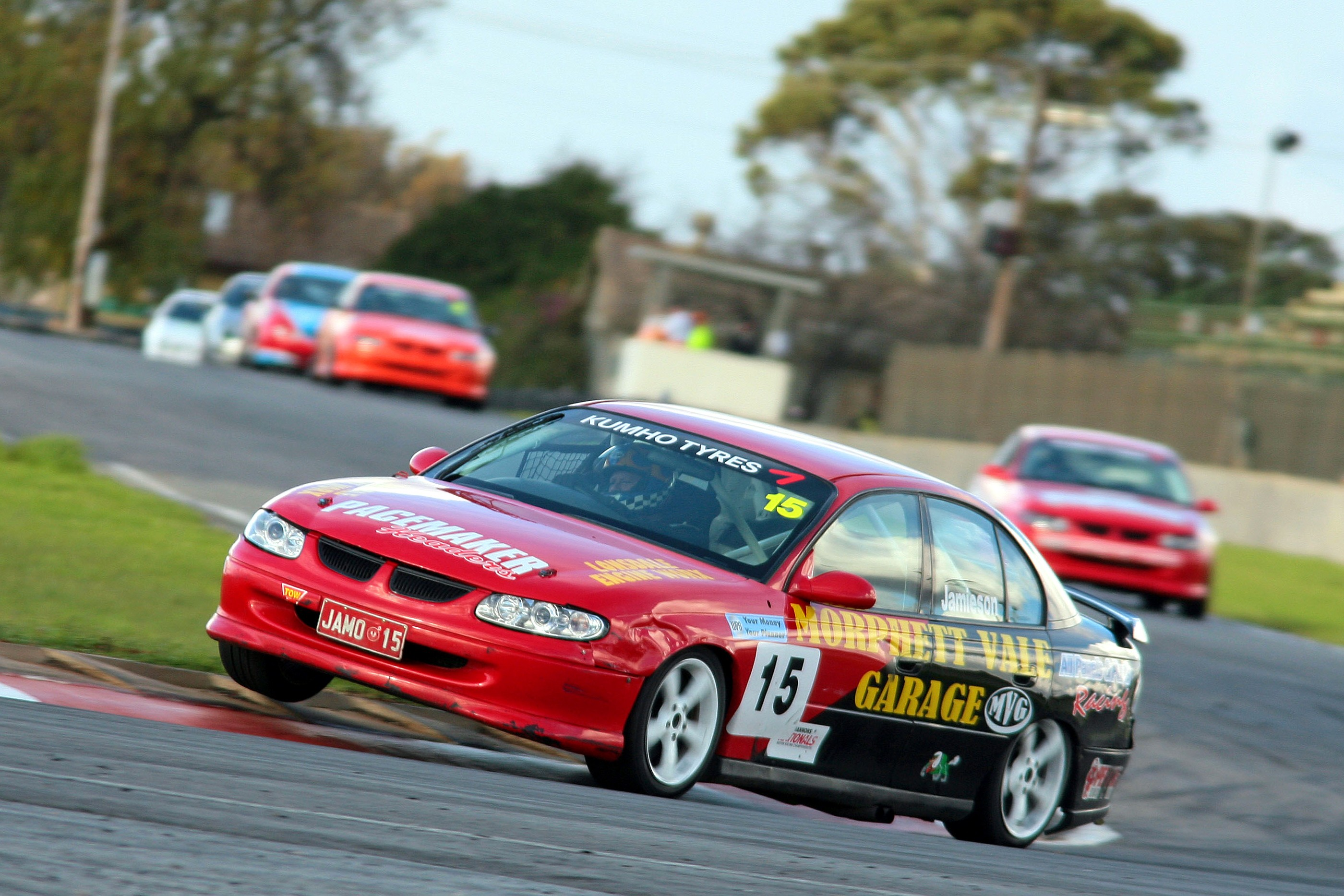 Saloons and Targa cars support Island