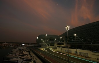 The Abu Dhabi circuit will light up for V8 Supercars in February next year