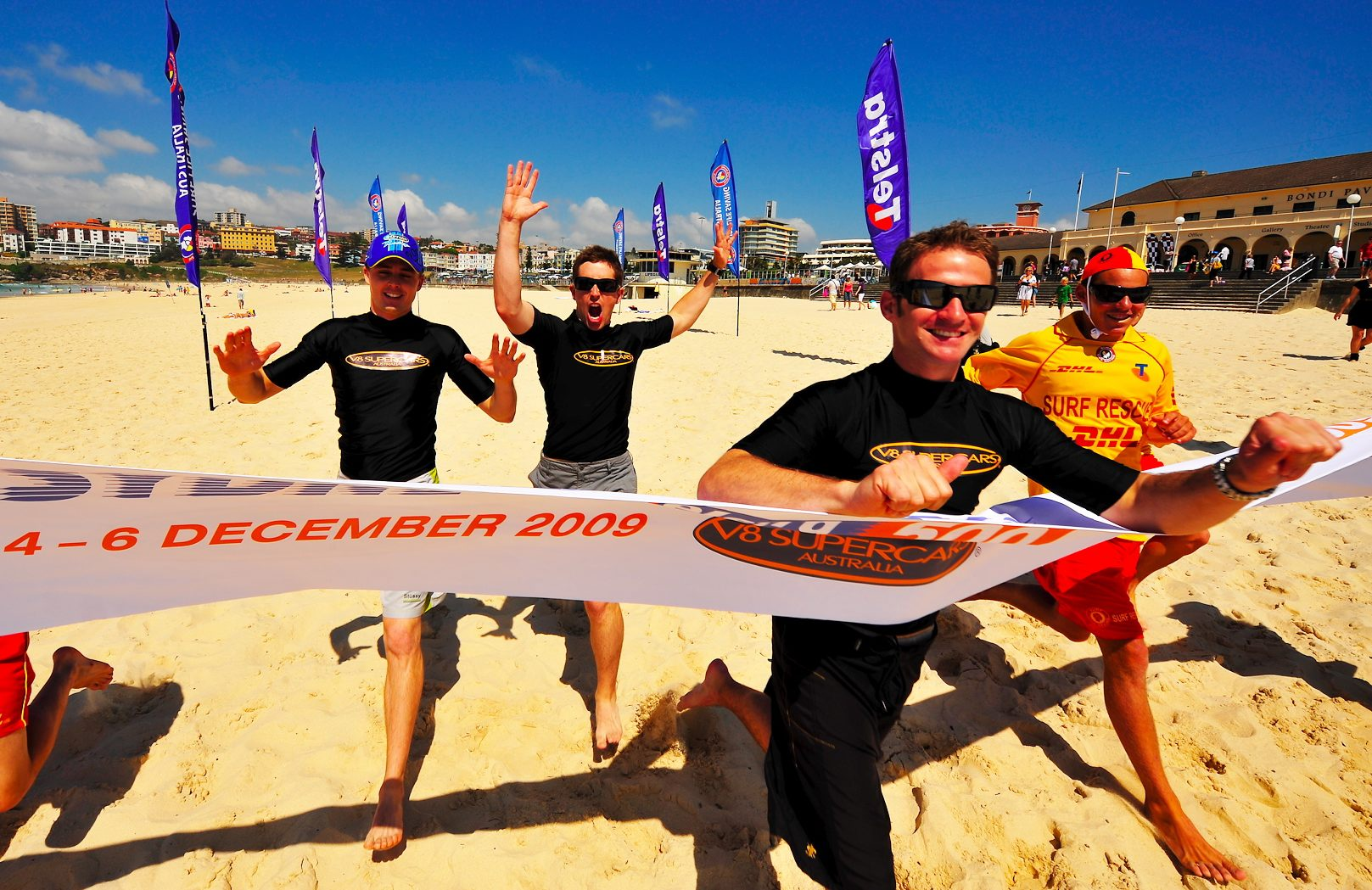 Life's a beach for V8 Supercar drivers