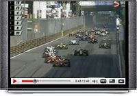 Aussie F3 star Daniel Ricciardo finds out just how narrow the streets of Macau are at the Formula 3 Grand Prix