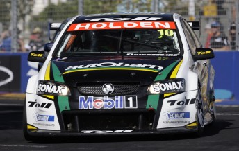 Paul Dumbrell in his Autobarn-backed Commodore VE