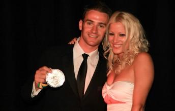 Barry Sheene Medalist Will Davison and girlfriend Riana Crehan