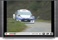 Mikko Hirvonen tests the all-new Ford Fiesta S2000