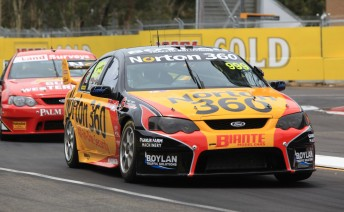 James Moffat won the today's Fujitsu V8 Supercar race, while Jono Webb finished second, wrapping up the title