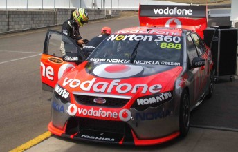 James Winslow tested the #888 TeamVodafone Falcon FG at Eastern Creek last week