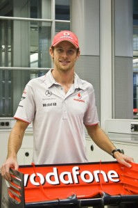 McLaren released this photo of new signing Jenson Button via its Twitter service