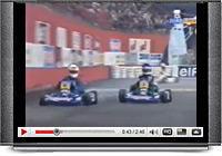 Karting Ayrton Senna and Alain Prost duel full race 1993.
