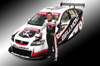 Tony D'Alberto with his new colour scheme for the 2010 V8 Supercars Championship Series