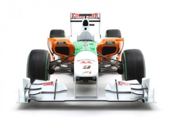 The front of the Force India VJM03