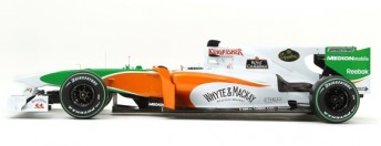 The side view of the Force India VJM03