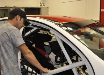 Gaunt takes a closer look at his new race car