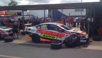 The aggressive new paint scheme for Supercheap Auto Racing's Russell Ingall