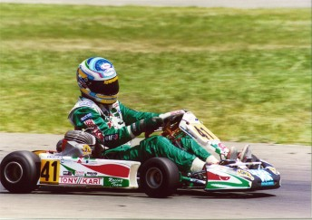 Mark Winterbottom in action during his karting days