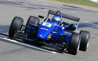 Ben Barker in his Team BRM Dallara