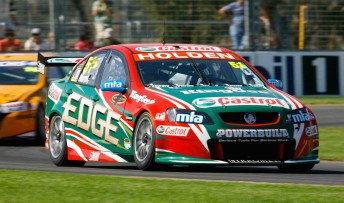 Greg Murphy in his Castrol Racing Commodore VE at the Albert Park street circuit yesterday