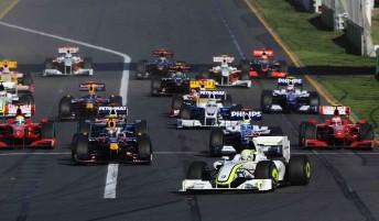 The start of the 2009 Australian Grand Prix at Albert Park