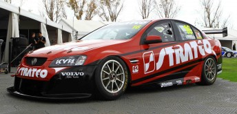 Another view of the new-look #16 Stratco Commodore
