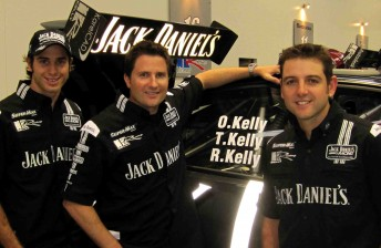 Jack Daniel's Racing's Rick Kelly, Owen Kelly and Todd Kelly. Could the team get Ned Kelly as its fourth driver?!
