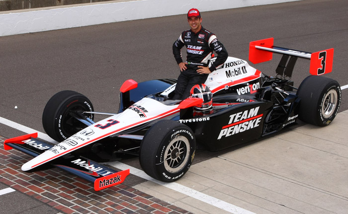 Castroneves and Power in Indy qualifying 1-2