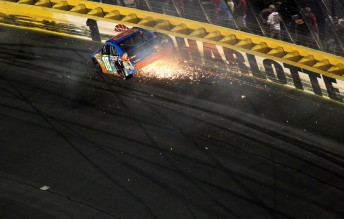 Kyle Busch crashes out in Charlotte