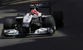 Michael Schumacher at the Monaco Grand Prix last weekend