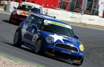 The Team Australia MINI Challenge entry that raced in Spain last weekend