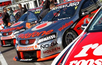 Two of the sport's biggest names – Toll Holden Racing Team and TeamVodafone