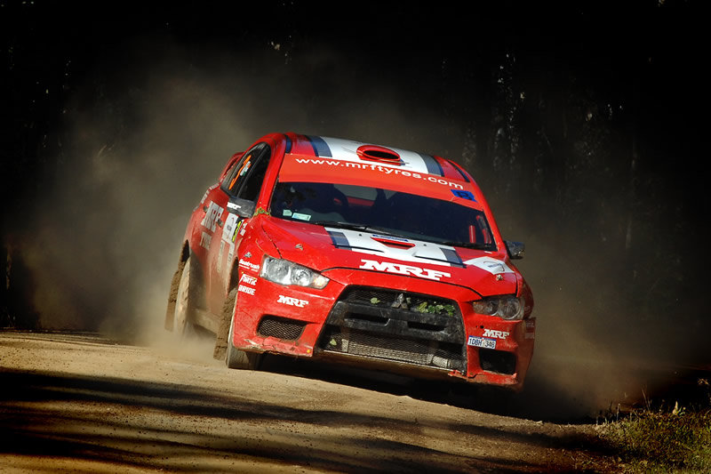 Guarav Gill takes first heat in Rally Queensland