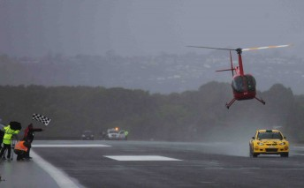 Proton's Chris Atkinson beat the Robinson 44 helicopter in two races