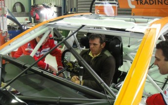 Jason Bright got his first chance to sit in his new car recently