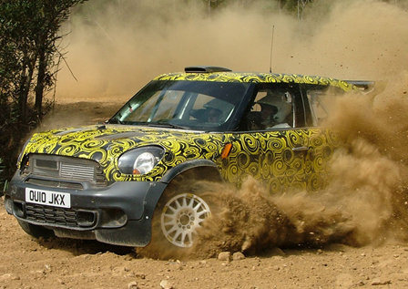 Mini WRC entry hits the test tracks