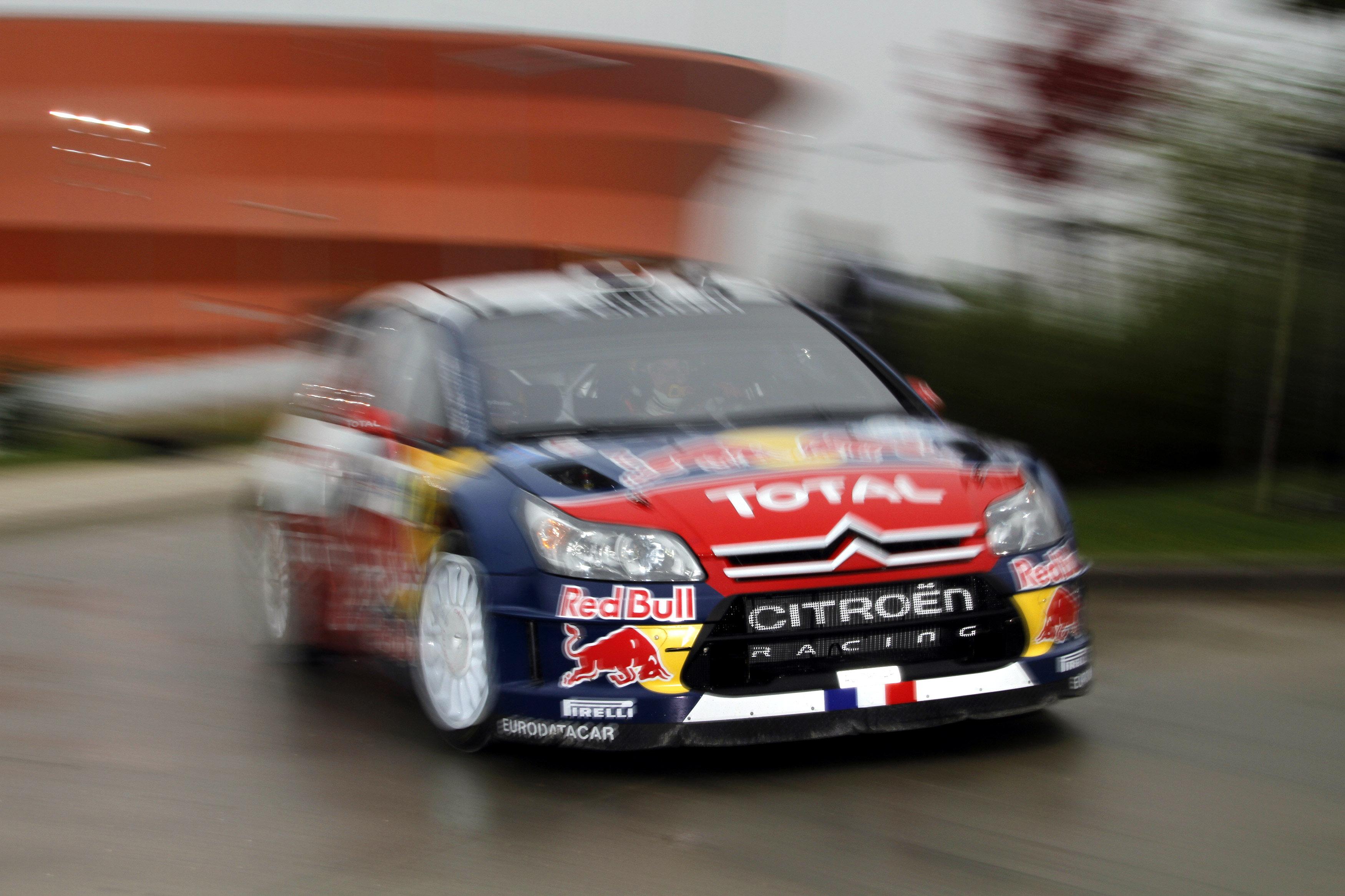 Sebastien Loeb leads Rallye de France
