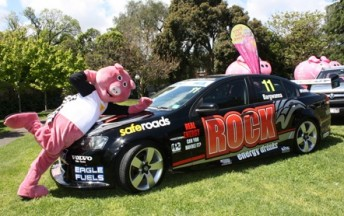 The Rock Racing Commodore at the charity event