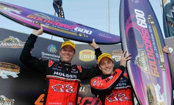 Tander and McConville on the Gold Coast podium