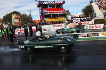The famous Shannons goggomobil will be in flight at Willowbank Raceway for the Shannons Queensland Autospectacular (credit -blacktrack.com.au)