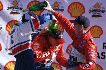 Garth Tander, Mark Skaife and Craig Lowndes on the podium in 1999