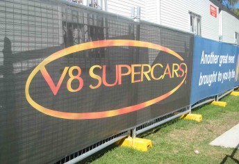 The new V8 Supercars logo made an early appearance at the Gold Coast 600 two weeks ago