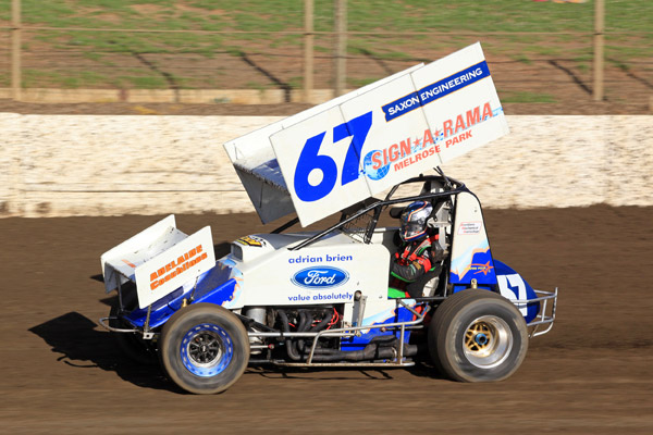 Tim Slade takes to the dirt track
