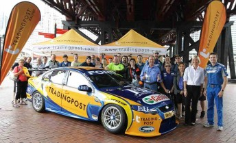 Trading Post ambassador Brooke Hanson and FPR driver Mark Winterbottom unveil the 2011 #6 entry
