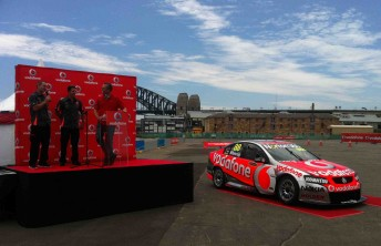 The 2011 Team Vodafone Commodore at today's launch