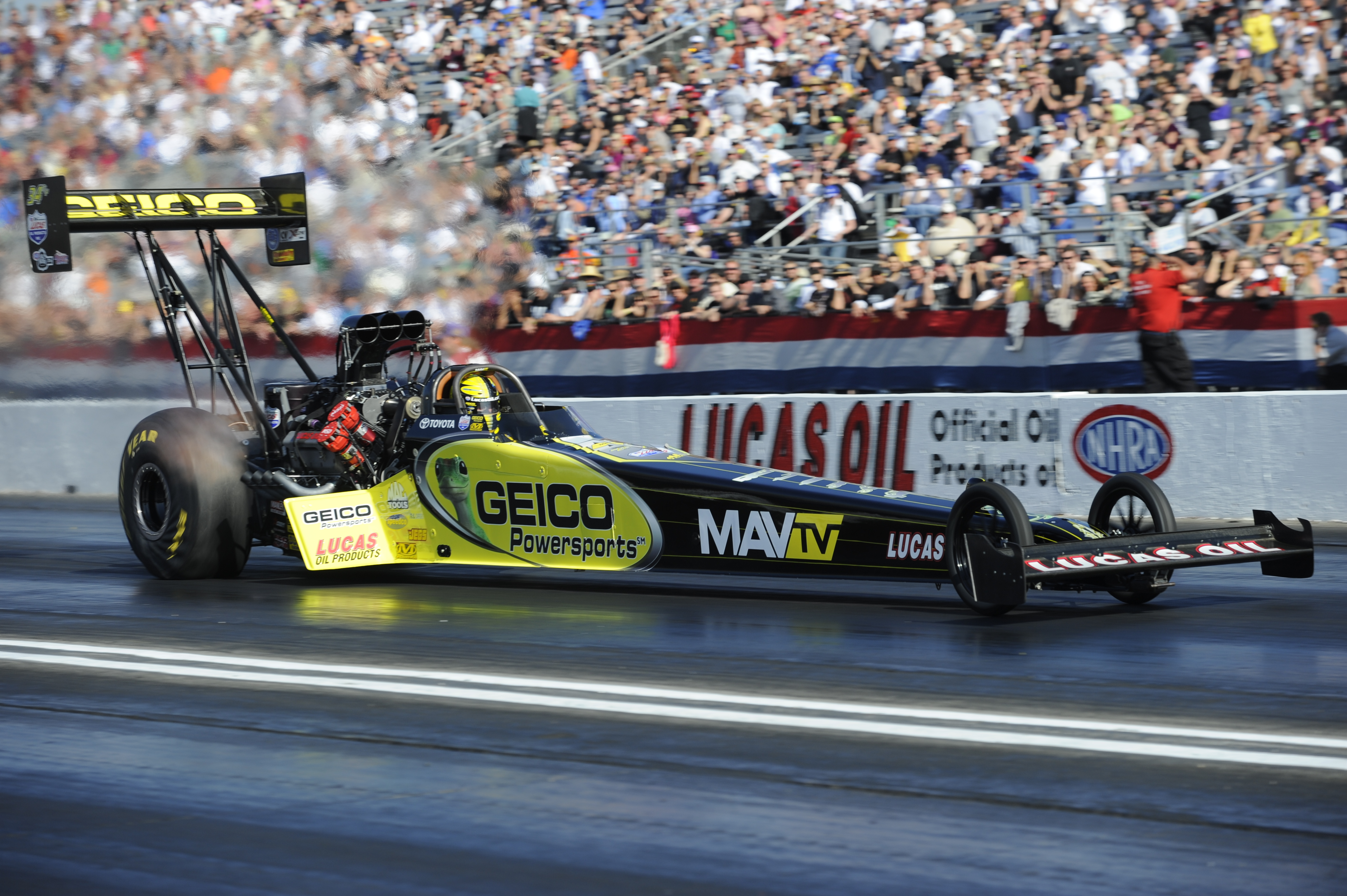Morgan Lucas wins NHRA opener