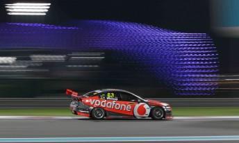 Jamie Whincup at the Yas Marina Circuit in Abu Dhabi