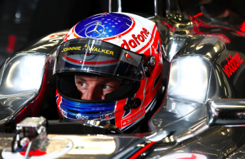 Jenson Button emerged fastest from Practice 2