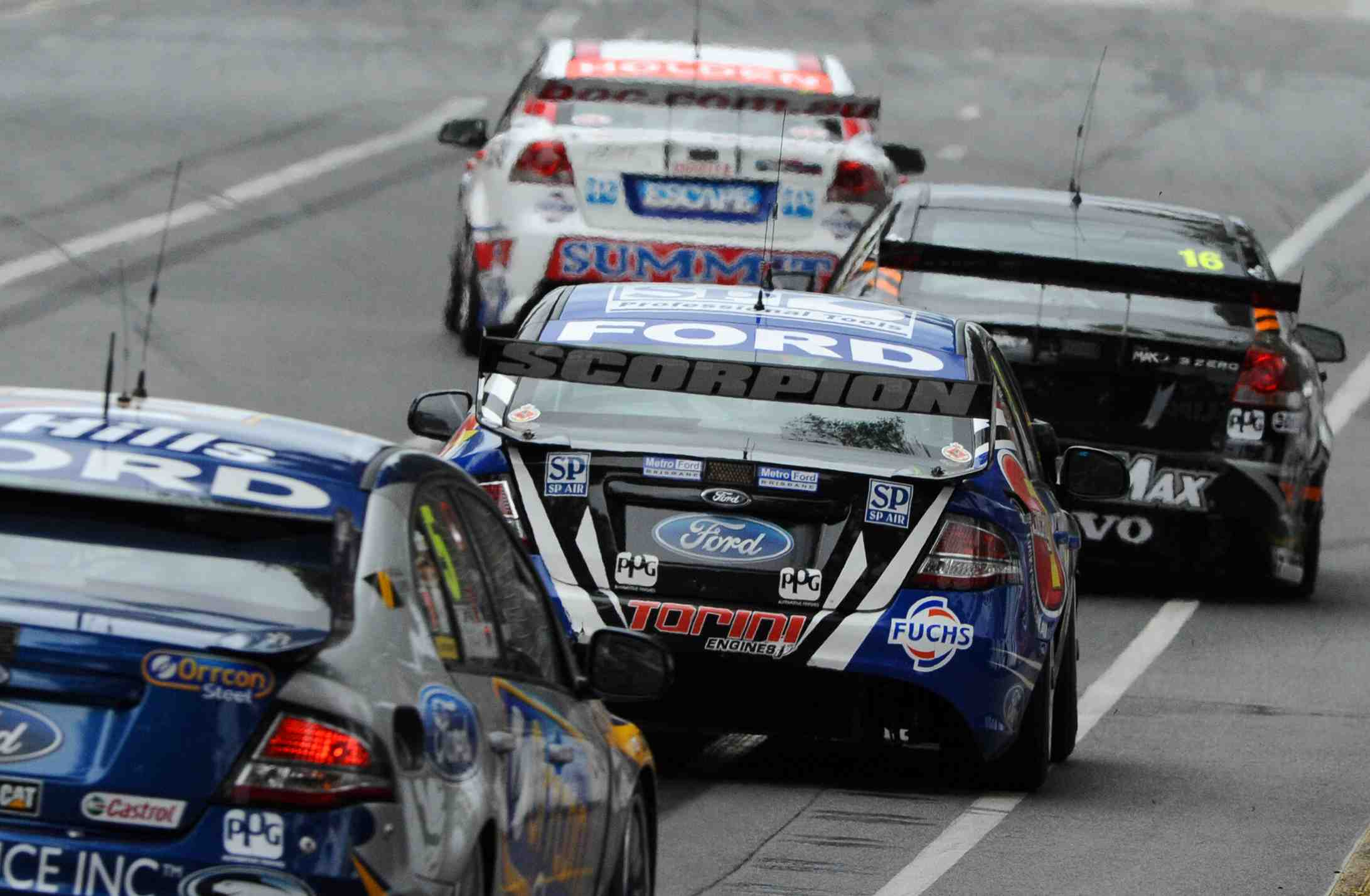 Resurfaced track section to improve Clipsal