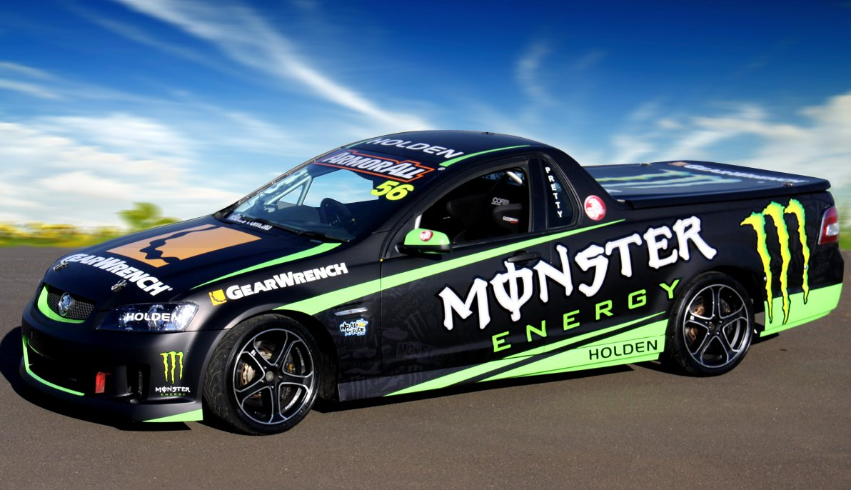 Monster Energy Drinks supports Pretty's Ute