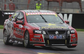 Garth Tander has won Race 3 of the V8 Supercars Championship in the first leg of the 2011 Clipsal 500